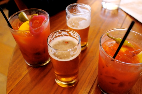 bloody mary: Tito's Vodka, publican mix, house-made celery bitters & three floyds zombie dust beer back
