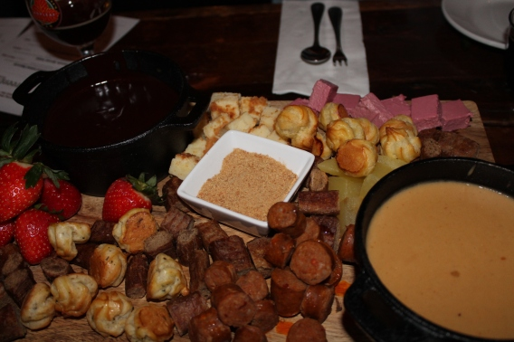 chocolate and cheese fondue