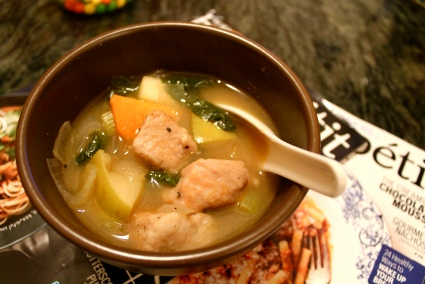 pork & sweet potato stew