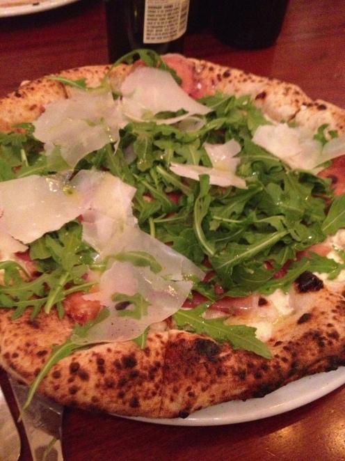 prosciutto e rucola at Spacca Napoli Pizzeria