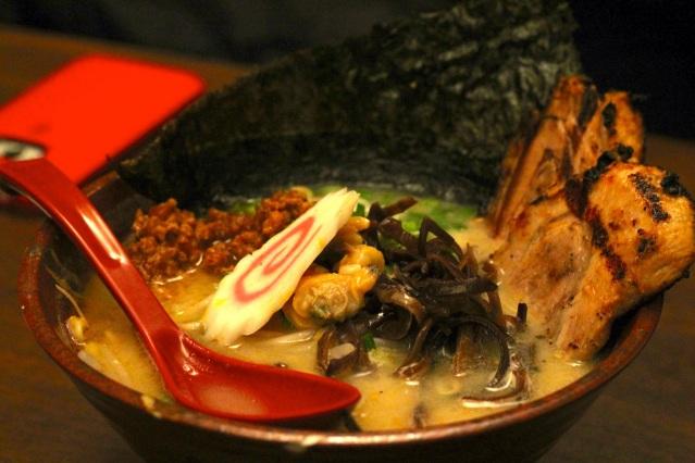 tonkotsu ramen with pork cha shu